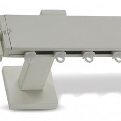 Domus Μεταλλικό Κουρτινόξυλο Φ25mm  Parthenos Μονό 160cm No30 Πάγος-No 29/5090/Ice