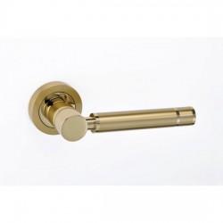 Best Πόμολο πόρτας 01 Brass Ζεύγος Ροζέτα Όρο Ματ