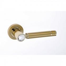 Best Πόμολο πόρτας 01SWT Brass Ζεύγος Ροζέτα ORO Ματ