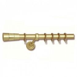 Import Hellas No1 Κουρτινόξυλο Φ25  Επεκτεινόμενο 140-250εκ., Χρυσό-Χρυσό Ματ