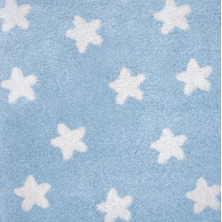 Shaggy παιδικό χαλί Cocoon 8391/30 γαλάζιο με αστεράκια - 2,30x2,80 Colore Colori