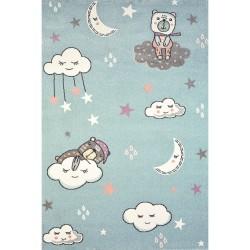 Γαλάζιο παιδικό χαλί συννεφάκια Diamond Kids 5263/30 -  ΡΟΤΟΝΤΑ  2x2 Colore Colori