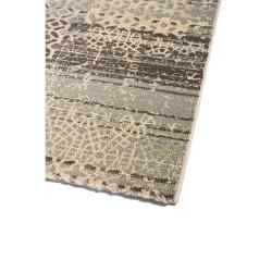 Νεοκλασικό χαλί καφέ γκρι Matrix 5148/95 -  ΡΟΤΟΝΤΑ  2x2 Colore Colori