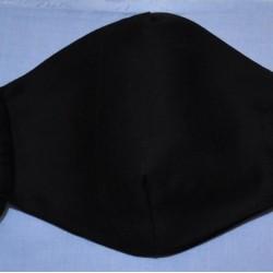 Μάσκα Προστασίας Υφασμάτινη Mcdecor Zero Black Oval L