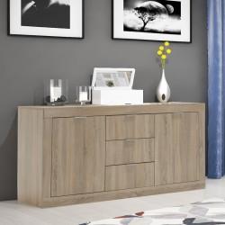 Μπουφές - κονσόλα Doha pakoworld χρώμα sonoma 180x45x80,5εκ