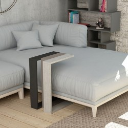 Βοηθητικό τραπέζι Muju pakoworld σε 3 χρώματα ανθρακί-μόκα-antique λευκό 40x30x57εκ