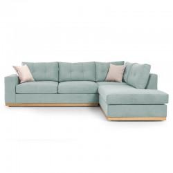 Γωνιακός καναπές αριστερή γωνία Boston pakoworld ύφασμα ciel-cream 280x225x90εκ