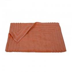 856 Ταπέτο Ζακάρ Ρίγα 100% Cotton 50x75 Εκρού Κοραλί - Coral